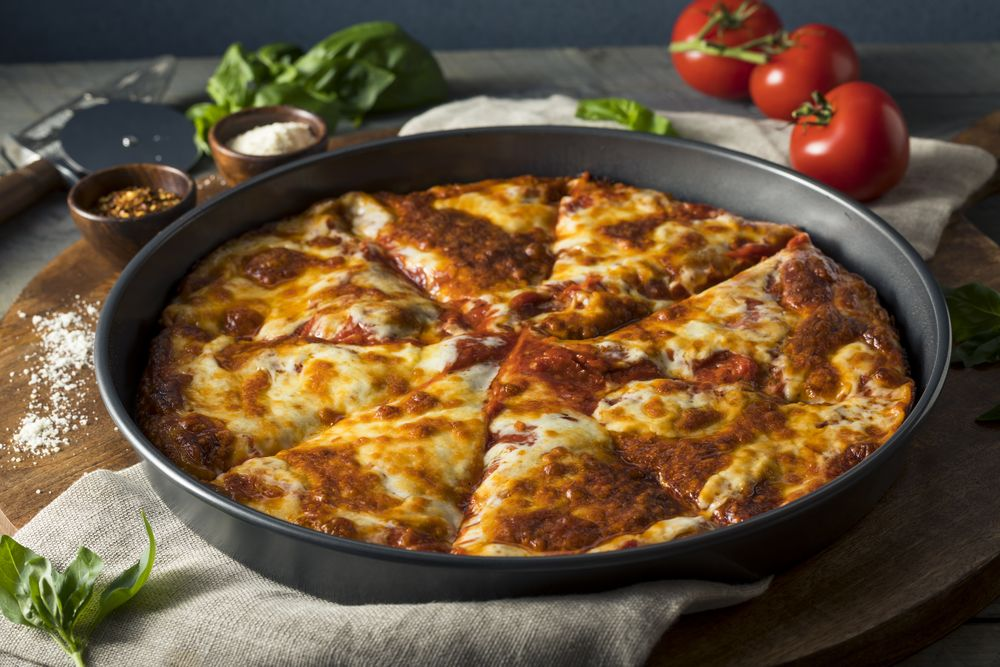 pizza in pan